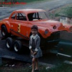 Luther Carters Daughter with Jalopy Car 1969